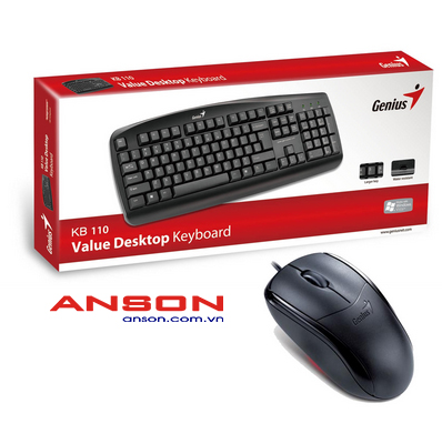 Bộ_Keyboard_Genius_KB110_và_Mouse_Genius_NS110X_USB